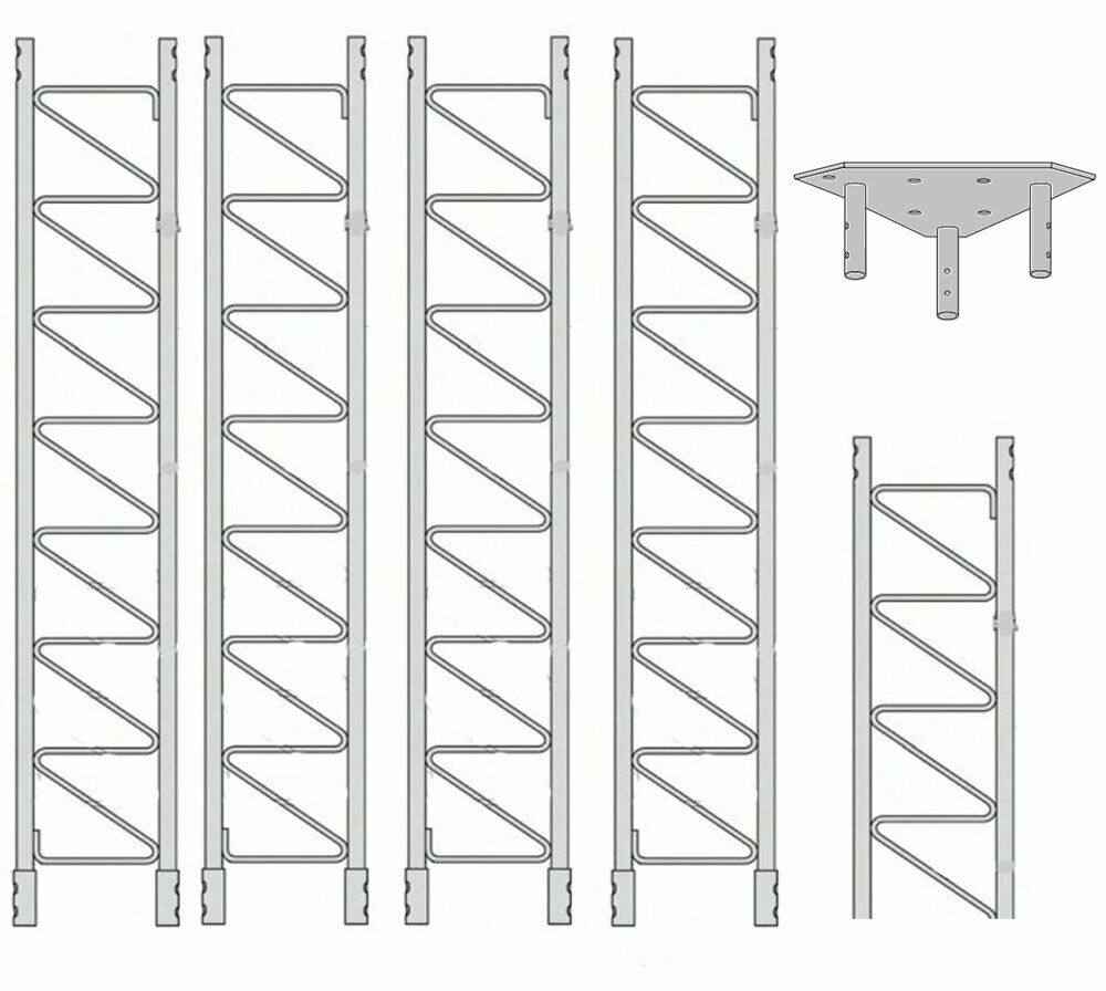 ROHN 55SS040    55G Series 40' Self Supporting Tower Kit . Buy it now for 2193.00