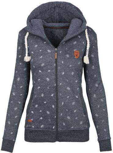 Felpa DONNA Hoodie con Cappuccio Inverno Pullover Maglione Sweater Top b546 NUOVO