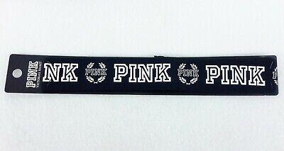 "Victoria/'s Secret PINK Logo Headband 2 1//4/"" Wide Pure Black"
