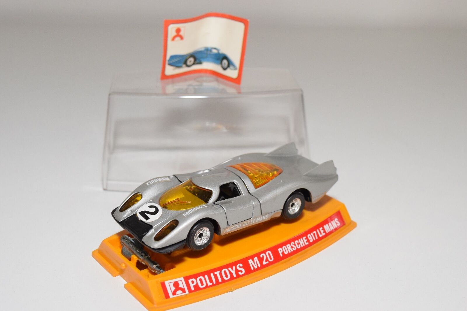 + POLITOYS M20 M 20 PORSCHE 917 LE MANS METALLIC GREY VERY NEAR MINT BOXED