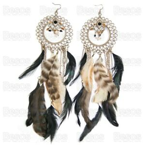 26cm-very-long-OVERSIZE-EARRINGS-feathers-hoop-feather-GOLD-FASHION-statement-UK