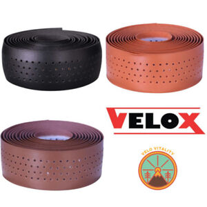 VELOX-Guidoline-034-Soft-Grip-034-Bar-Tape-Aspect-Cuir-Bande-Pour-Retro-Vintage-Style