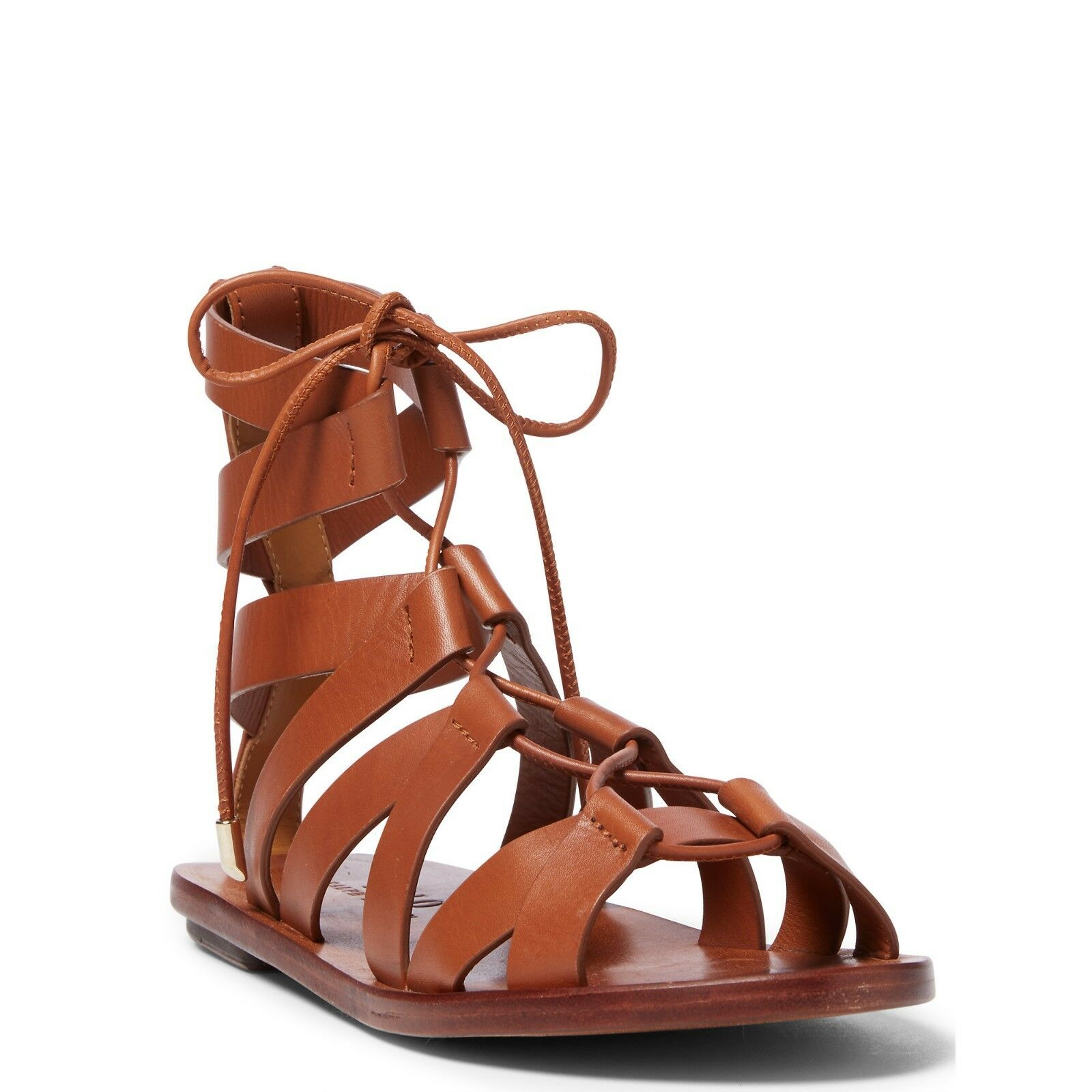 New Polo Ralph Lauren Jackie marron Cuoio Leather Gladiator Sandals 10   41