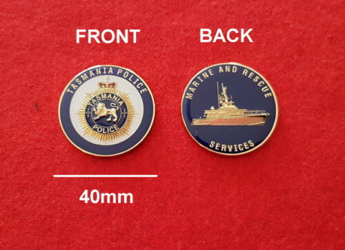 social Tasmania Police Marine and Rescue Services Challenge Coin