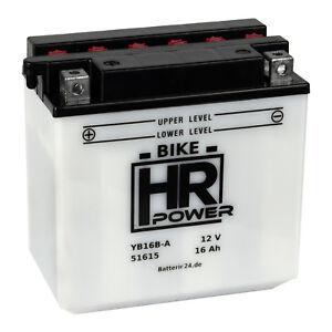 Motorradbatterie 12V 16Ah 51615 YB16B-A1 CB16B-A1 inkl. Säurepack *NEU*