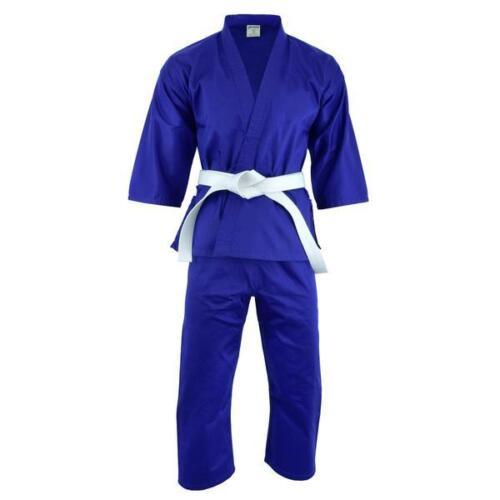 PFG Colored Karate Uniform Lightweight Gi Pant White Black w// Belt adult kids