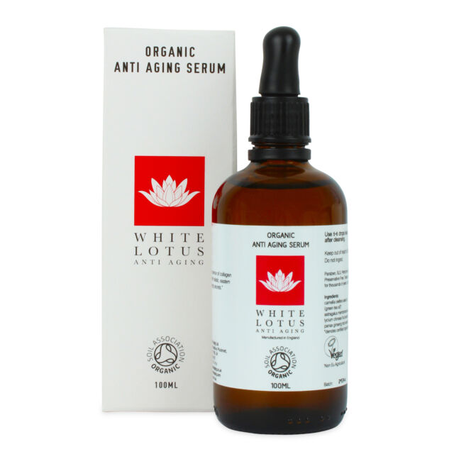 Organic Anti Aging Serum - White Lotus 100ml, Holistic Skin Needling, Vegan