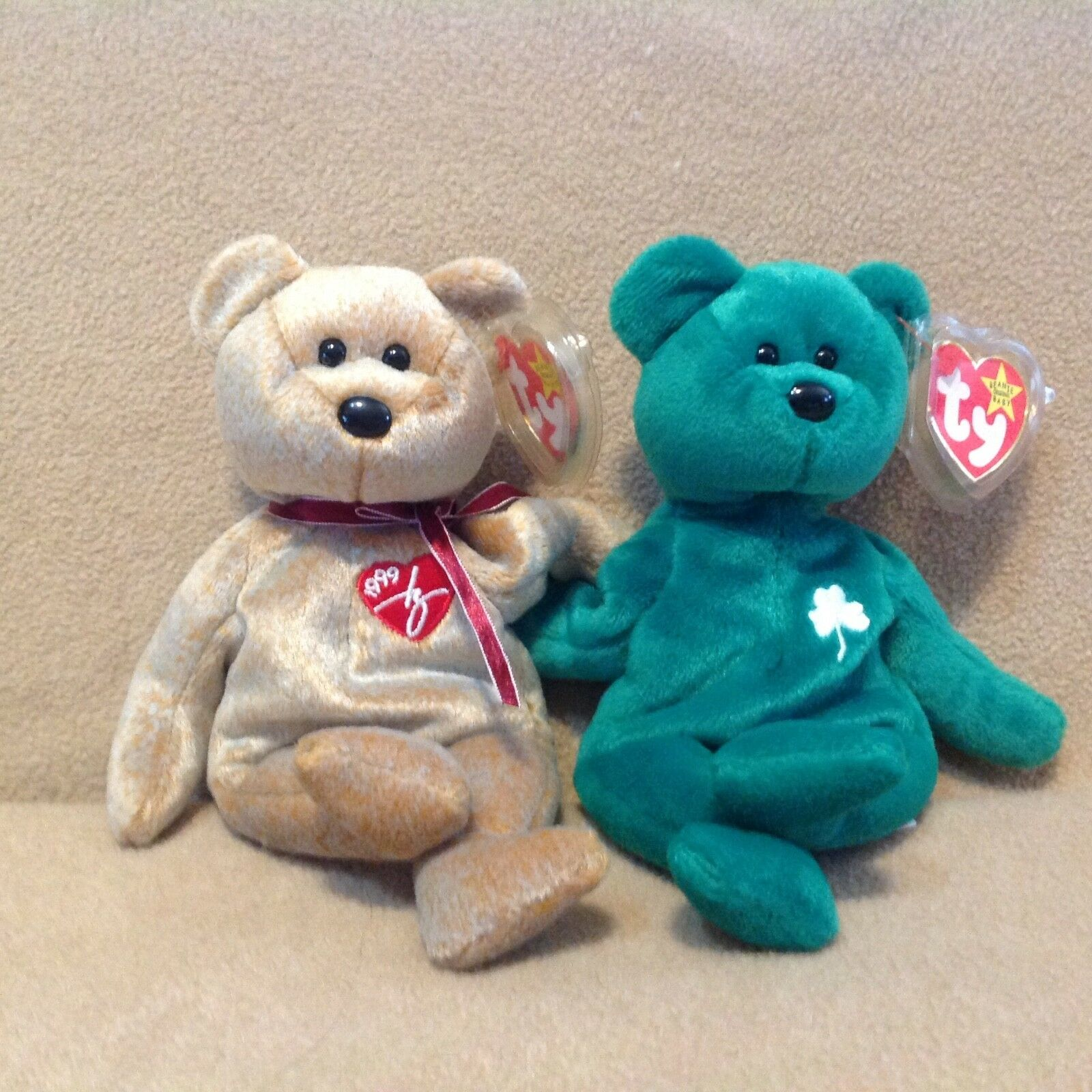Retired Retired Retired Beanie Baby Lot of 2 MWMT Ty 1999 Signature Bear & Erin Bear 1c5d2f