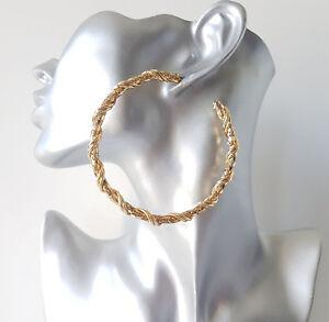 Image Is Loading Beautiful 8cm Gold Tone Chunky Chain Design Half