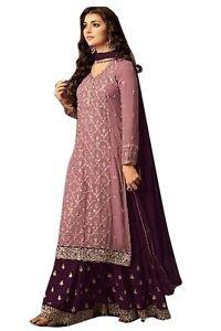 Traditional-Plazzo-Stylish-Pakistani-Indian-Kameez-Salwar-Suit-Shalwar-Stitched
