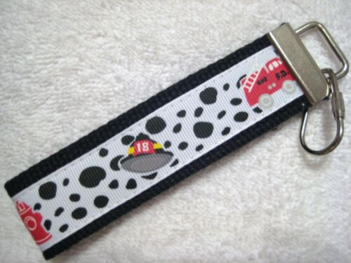 really cute keychains FIREFIGHTER DALMATION Key Fobs