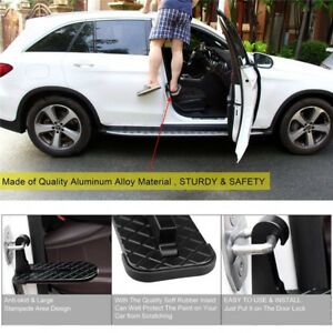 USA Folding Car Door Latch Hook Step Foot Pedal Ladder for Jeep SUV Truck Roof 1