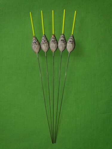 1.0g Yellow Tip 5 x Assorted High Quality Pole Fishing Floats WE333