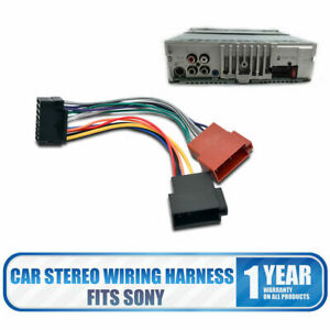 Details about New Sony Stereo Radio Lead Loom ISO Wiring Harness Connector on