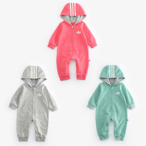 2020 BABY FASHION ROMPER HAT BOY GIRL LONG SLEEVE BABYGROW OUTFITS SET 0-18 M