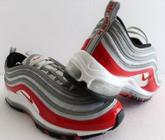 fdd39c0582 Nike Air Max 97 Sz 9.5 100 Authentic Pure Platinum University Red ...