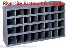Metal 32 Compartment Slot Hole Storage Bin Cabinet For Nuts Bolts 357 95