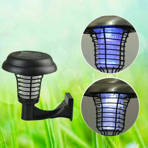Solar Powered LED Outdoor Mosquito Fly Bug Insect Zapper Killer Trap Lamp Light