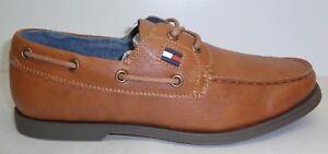 c34475ceff0b05 Tommy Hilfiger Size 9 M ALDEZ Tan Natural New Mens Lace Boat Shoes ...
