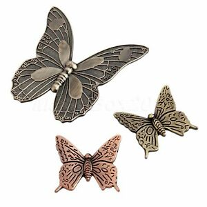 2Sizes Vintage Butterfly Cabinet Closet Door Knob Drawer Furniture Pull Handle
