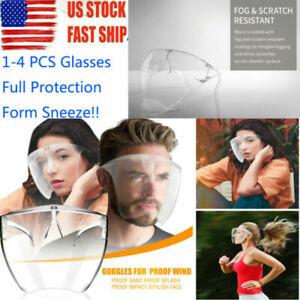 Blocc Face Shield Protective Face Cover Transparent Glasses Visor Anti-Fog USA