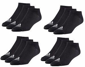 12 x Adidas Sneaker Knöchel Lightweight Socken schwarz weiß Gr.35-50 AA2312*NEU*