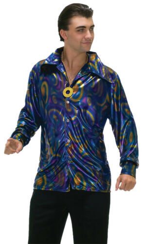 Dynomite Dude Shirt Adult Men/'s Costume XL 70s Disco Shiny Halloween