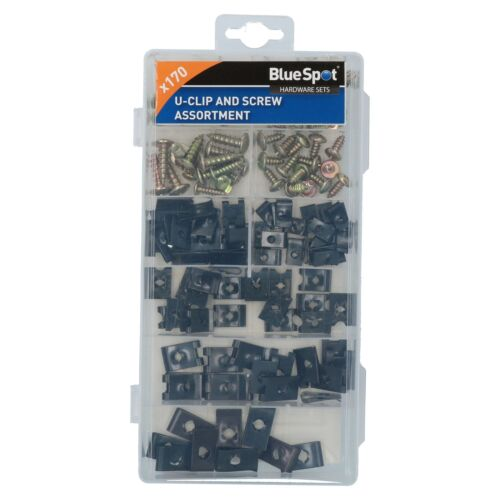 Screw And U Type Cushion Speed Clips Assortment Kit Fasteners Fixings 170pc