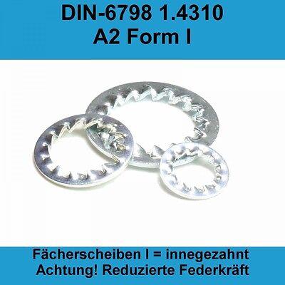 100 Fächerscheiben DIN 6798 Edelstahl A2 3,2 Form A