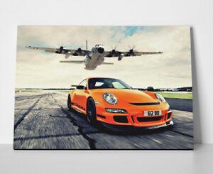 Porsche 911 Orange Poster or Canvas