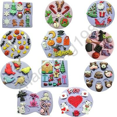 Christmas & Halloween style Silicone Mould for Soap Craft Candle Cake Decorating