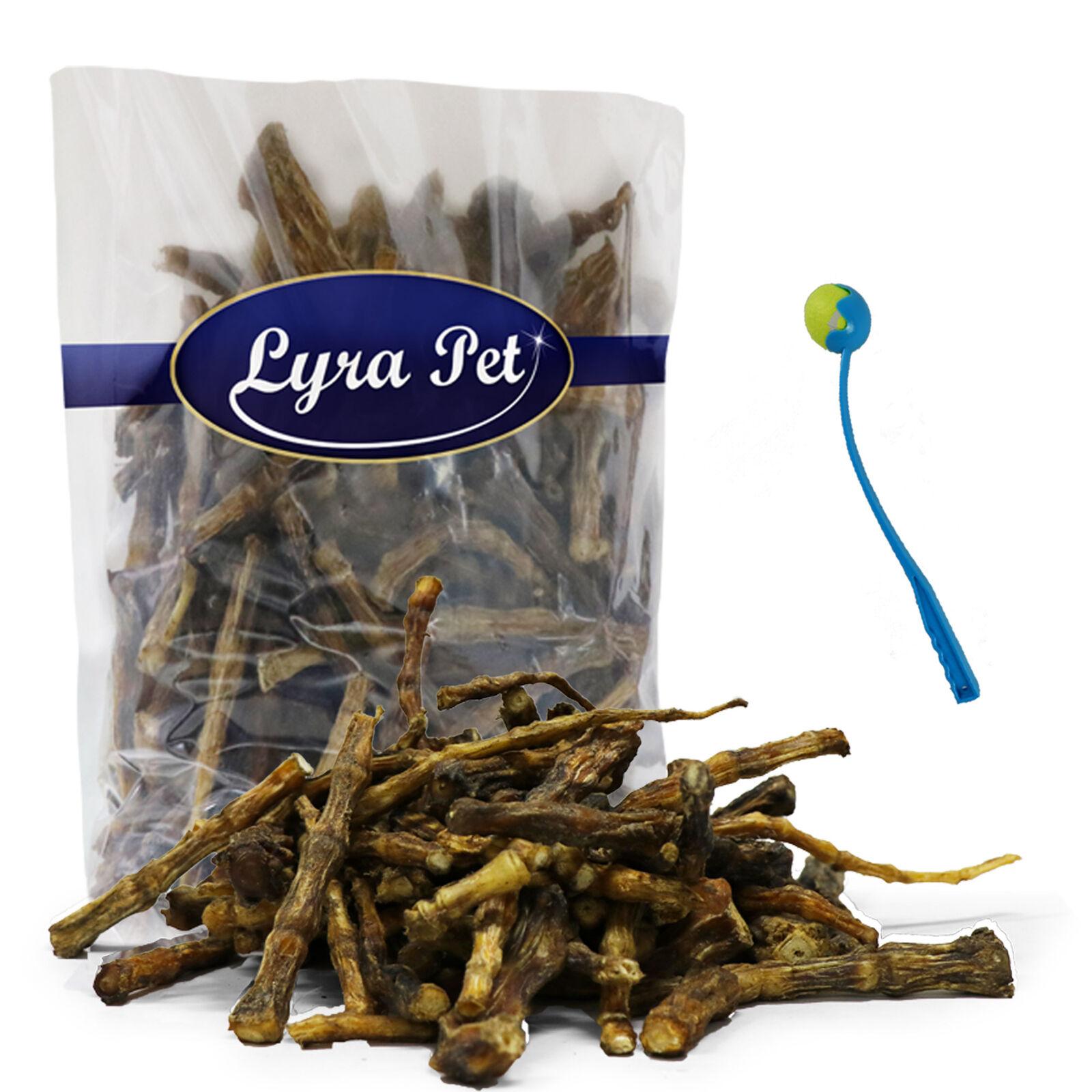 10 kg Lammschwänze getrocknet Hundefutter Belohnung Lyra Pet® + Ballschleuder