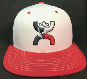 finest selection a69c4 13621 Image is loading Hooey-Hat-Texican-Red-White-amp-Blue-Snapback-