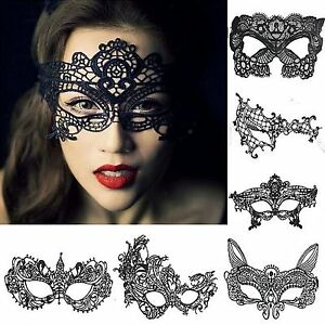 noir sexy v nitien bal masqu lacets d guisement masque soir e bal uk vendeur ebay. Black Bedroom Furniture Sets. Home Design Ideas
