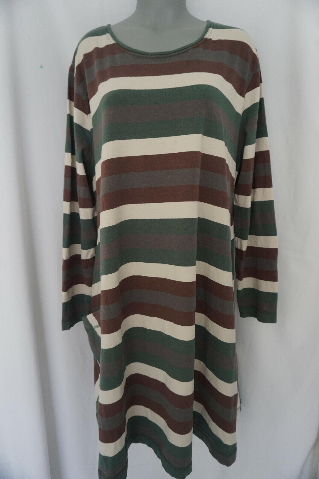 Deerberg Tunika Lagenlook Kleid / Stretch Kleid / gestreift Gr XL