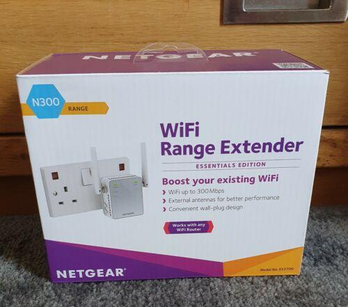 Netgear N300 WIFI RANGE EXTENDER RIPETITORE plug in internet copertura wireless