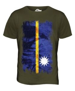 Hommes Cadeau T Football Nauruan shirt Grunge Haut Nauru Naoero Drapeau Fxq4wWB