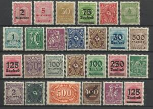 GERMANY-1919-23-INFLATION-ERA-STAMP-COLLECTION-PACKET-of-25-DIFFERENT-Stamps-MNH