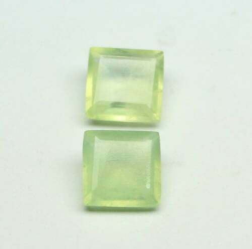 Details about  /Lot Natural Prehnite 6x6 mm Square Faceted Cut Loose Gemstone