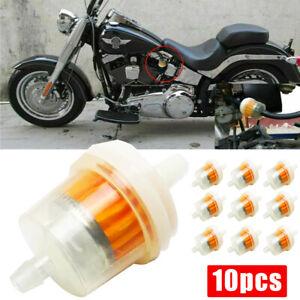 "BMW Motorcycle Clear Inline GAS Carburetor Fuel Filter 6mm 7mm 1//4/"" MOTOR 10PCS"