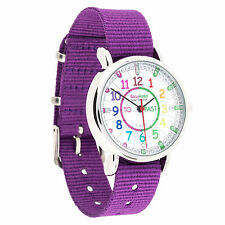 Children's Easyread Learn to Tell the Time Childs Watch Purple