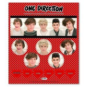 One-Direction-039-Fase-3-039-12-Piezas-Juego-De-Pegatinas-Decoracion