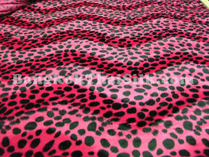 Image Is Loading Hot Pink Animal Print Soft Velvet Leopard Fabric