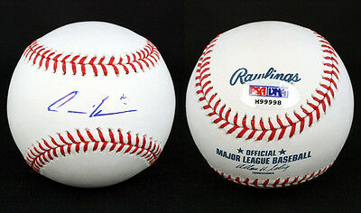 Autographs-original Andre Ethier Signed Romlb Baseball Los Angeles Dodgers Psa/dna Autographed Nourishing The Kidneys Relieving Rheumatism