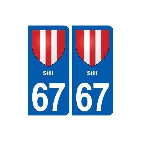 67 Still blason autocollant plaque stickers ville arrondis