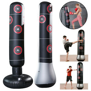 Inflatable Boxing Free Standing Punch Bag Stand Martial Arts Punching Training