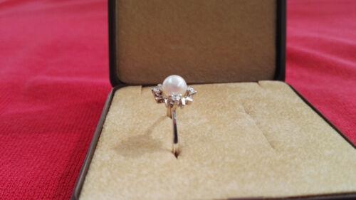 Ring Zuchtperle und Zirkonia in Silber 835//000 die letzten 3 Stück