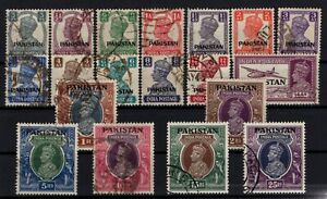 P130352-PAKISTAN-STAMPS-SG-1-19-USED-COMPLETE-SET-CV-340