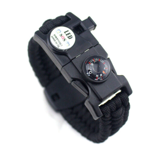 Newly 20 in 1 Emergency Survival Paracord Bracelet SOS LED Camouflage Compass