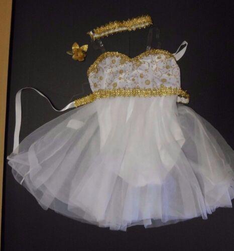 NWT DANCE Lyrical Ballet Costume Wolff Fording GoldTrim Girls szs 3 Colors Velvt